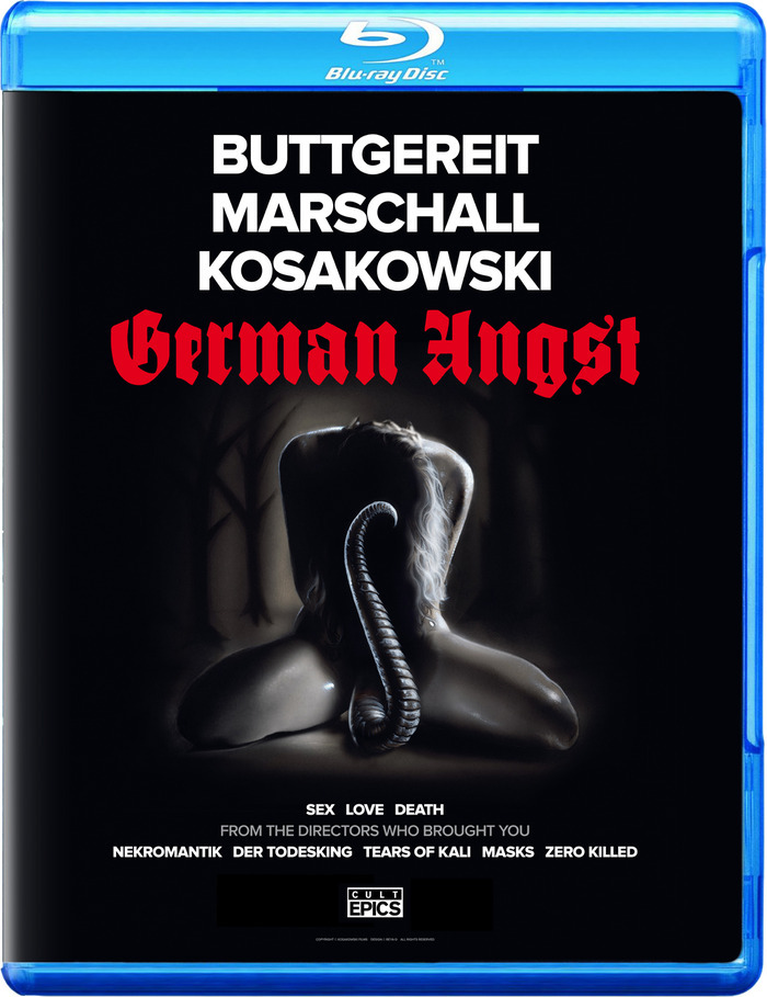 "$100 - The first to pledge gets the lowest number of BLU RAY or DVD ""GERMAN ANGST"" limited numbered edition of 500, signed by Jörg Buttgereit, Andreas Marschall and Michal Kosakowski + MORE!"