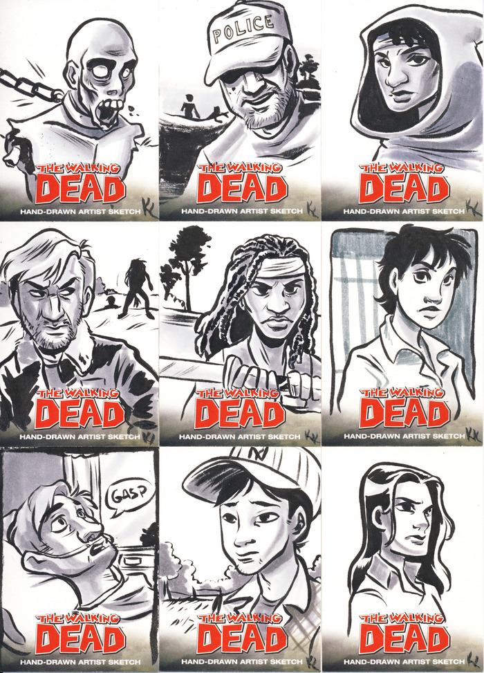 Walking Dead Card Samples