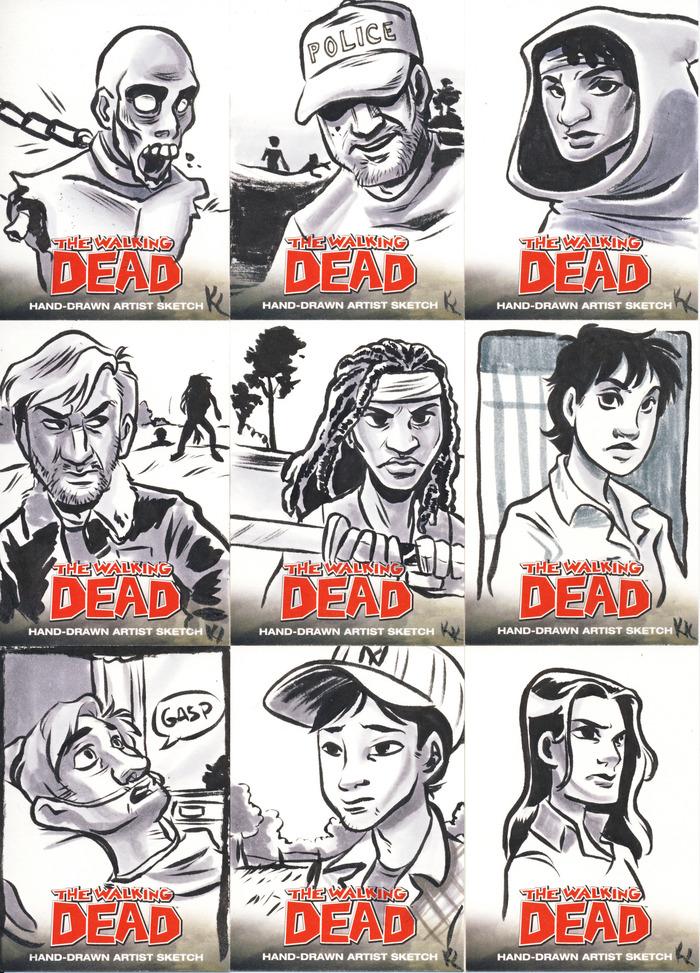 Walking Dead Card Samples