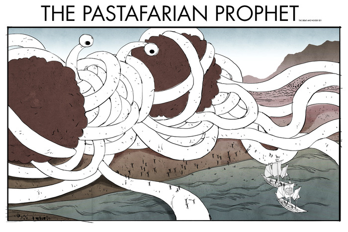 """The Pastafarian Profit"" by Janet Sung @kuru731"