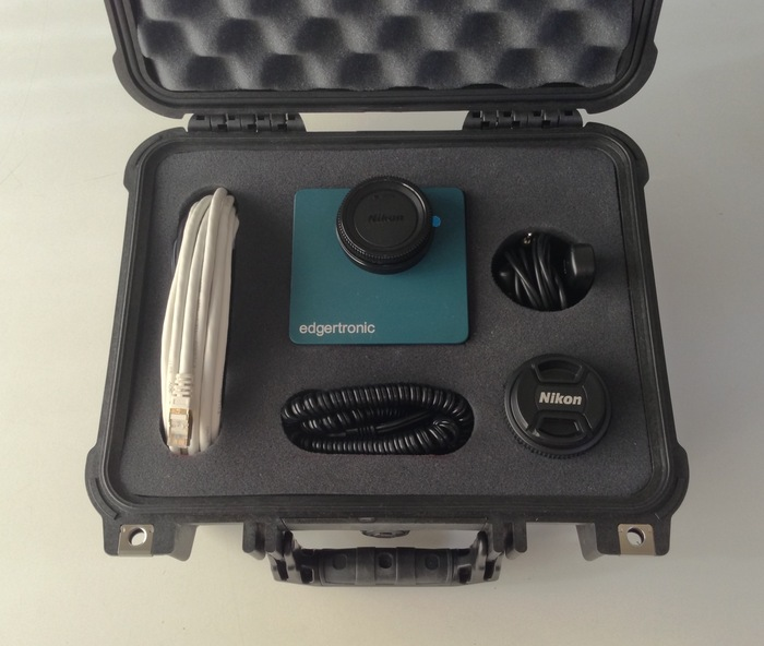 edgertronic camera, accessories and hard case