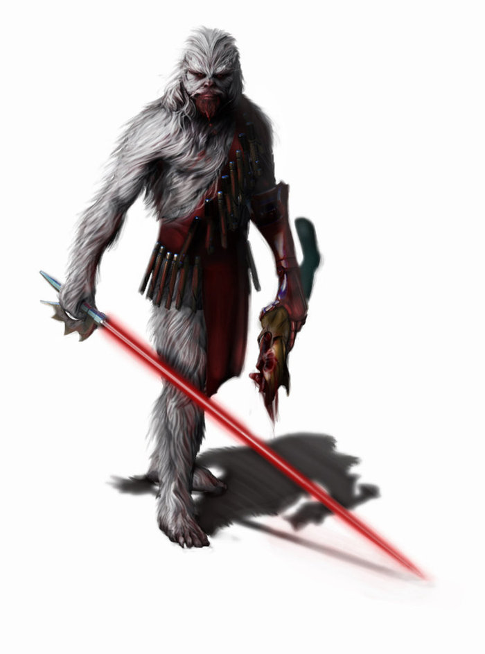 "Brandon Perlow digital painting of ""Darth Mange"""