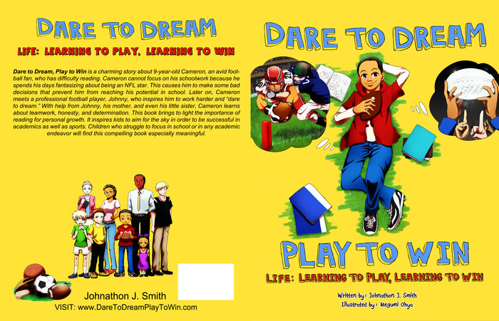 Front and Back artwork of Dare to Dream, Play to Win