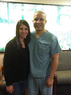 Jonathan before one of his treatments at M.D. Anderson with his girlfriend Lindsey
