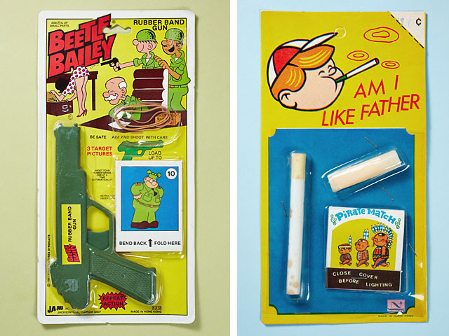 Beetle Bailey Rubber Band Gun - Am I Like Farher