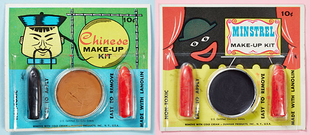 Chinese and Minstrel Makeup Kits (diptych)