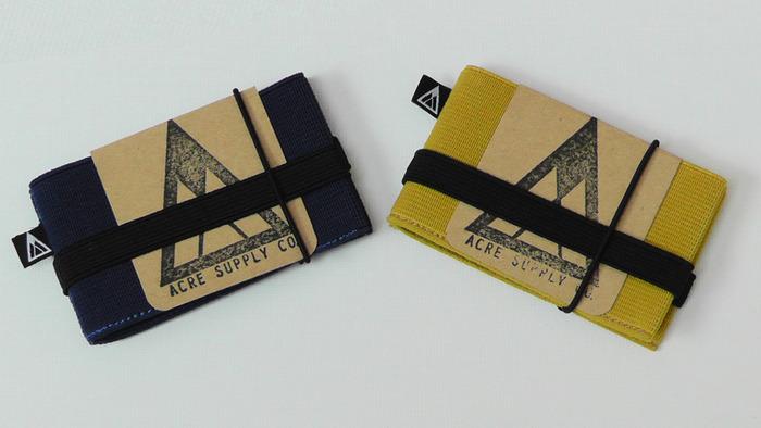 Navy & Mustard Yellow Flip Wallet