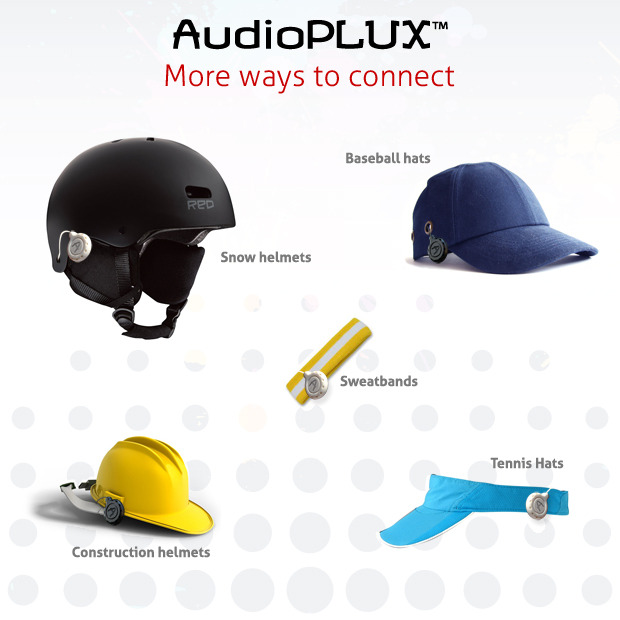 Other headgear uses for the AudioPLUX™ Speakers