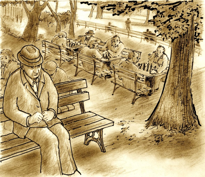 """Samuel in the Park"" Concept Art by Vally Mestroni (gift items)"