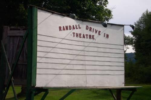 Randall Drive-In Theatre Original Marquee