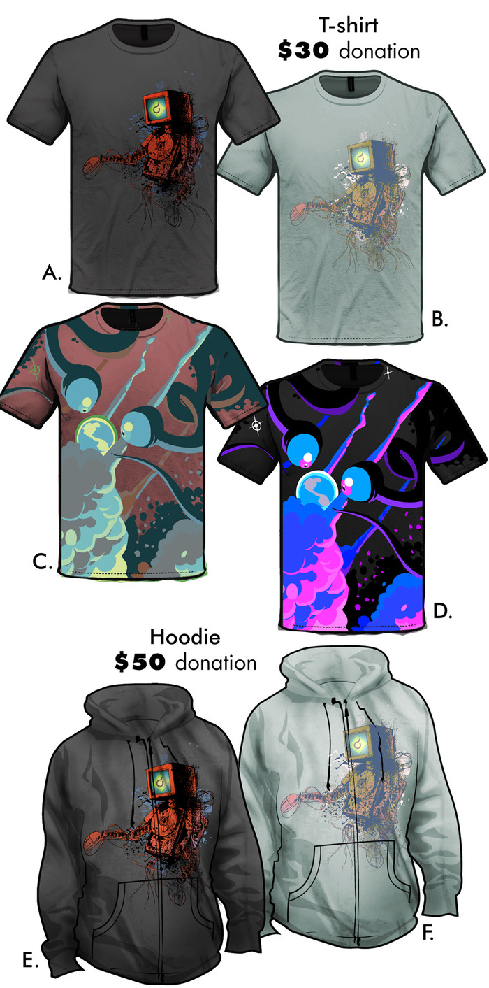 T-shirts and Hoodie designs by Adrian Smith and Jassiel McBride