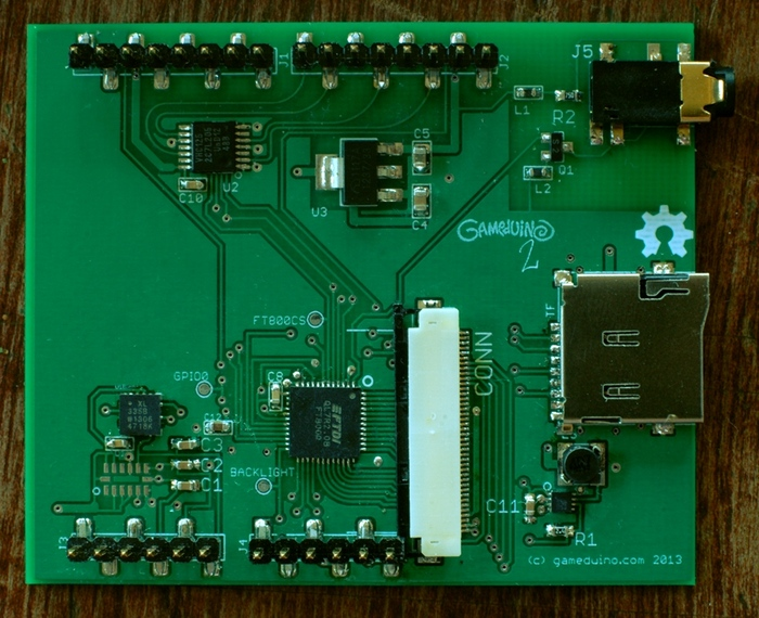 PCB shown detached from the LCD