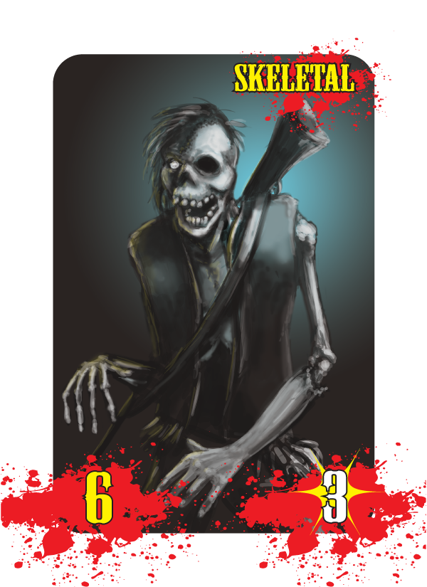 Skeletal Zombie Card - Art by Dave Holland