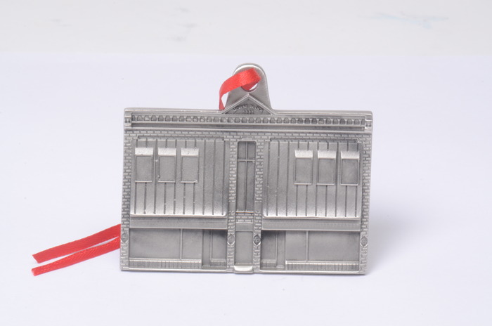 Morse Block Building Pewter Ornament