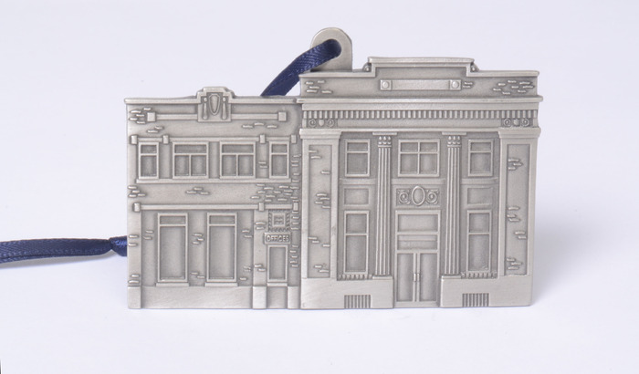First National Bank Pewter Ornament