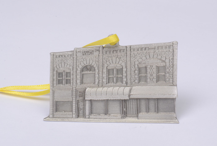 Masonic Block, Main Street Pewter Ornament