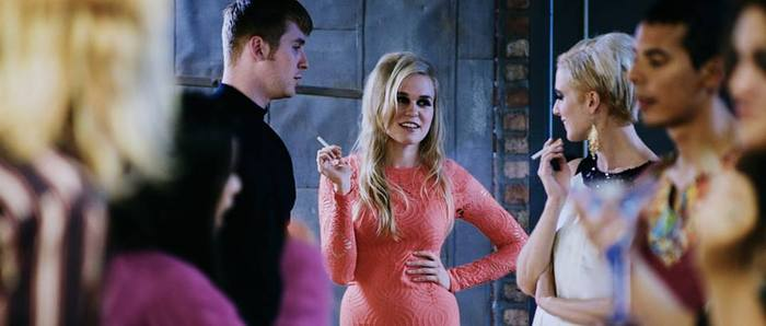 Production Still with the Factory's main characters from left to right, Paul America (Chris Maher) Baby Jane (Nikeshia Koch) and Edie Sedgwick (Me, Carissa Lynelle)