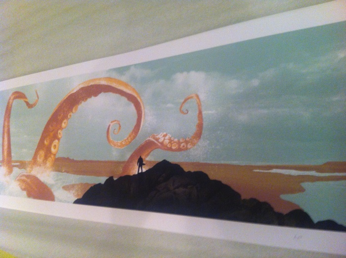 Mark Englert screenprint of the centerfold of Bad Karma Vol 1