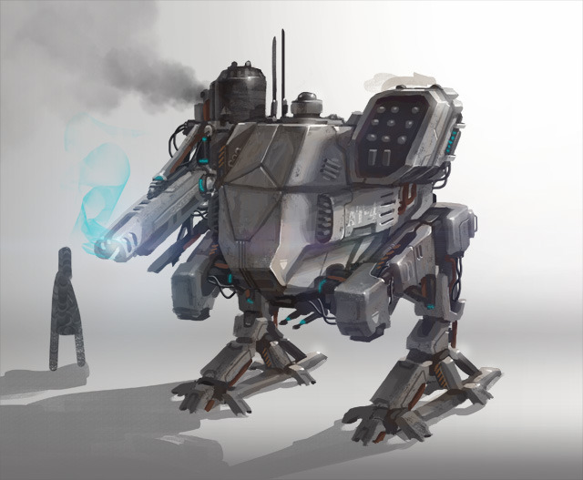 Concept for the first boss mech.
