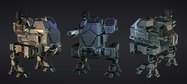 Rendering of the boss mech.  (Finish the demo to fight it!)