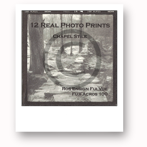 Reward #15: Happy Travels. Real photo prints by local artist David Hurn (70mm x 70mm)