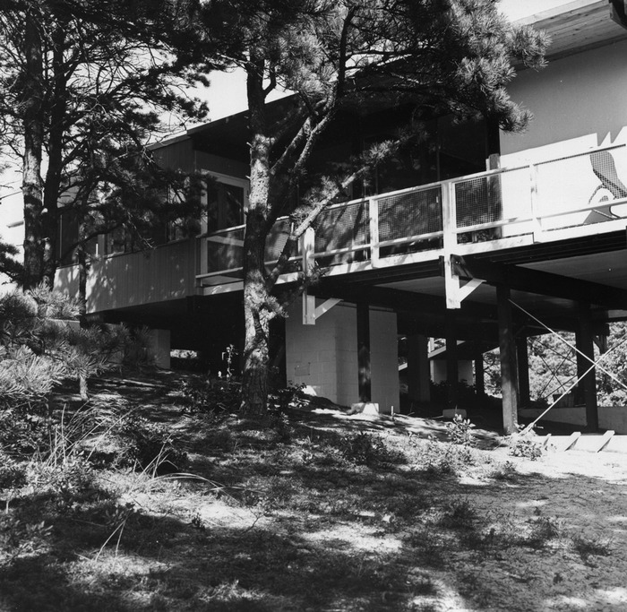 A view of the veranda facing the pond. 1953. Photo: Madeliene Weidlinger-Friedli