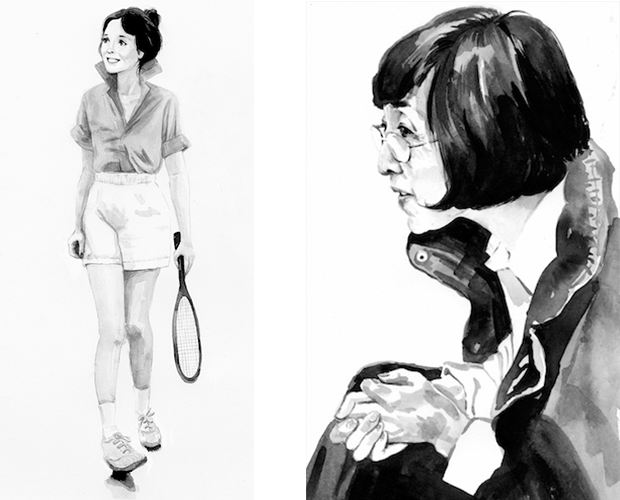 Ink studies by Jingyao.