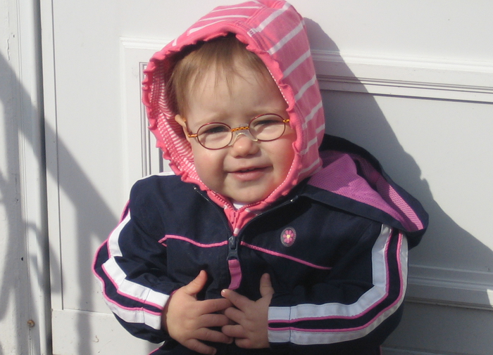 Zoe, shortly after getting her glasses