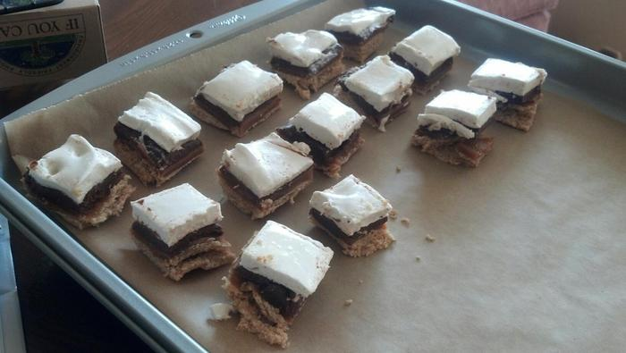 S'mores and caramel bites