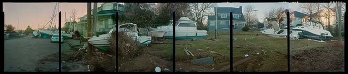 """Eltingville, Staten Island, 2012, 24"""" x 120"""" (Exhibited by International Center of Photography and the Museum of the City of New York)"""