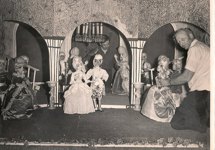 Ralph and Lou with The Puppet Parlor Theater