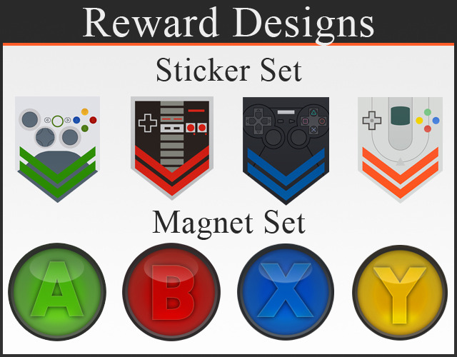 Example of reward designs, designs not final