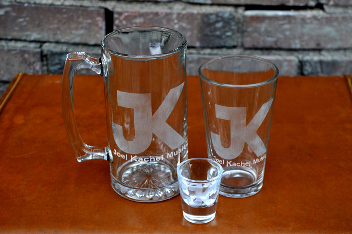 DRINKERS DELIGHT PACKAGE: 24oz JK Sports Mug (with Album Lyrics) + 16oz JK Drinking Glass + 1.5oz JK Shot Glass+ KickStarter EP + Digital Download +Signed CD + JK Sticker