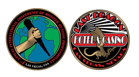 '1st Annual International Conference of Monster Hunting Professionals' Coin