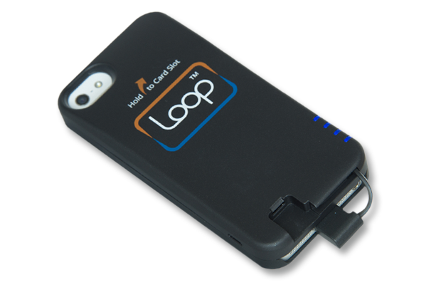 The Loop ChargeCase charging an iPhone.