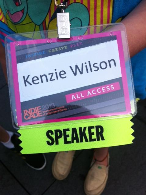 My IndieCade Speaker Badge