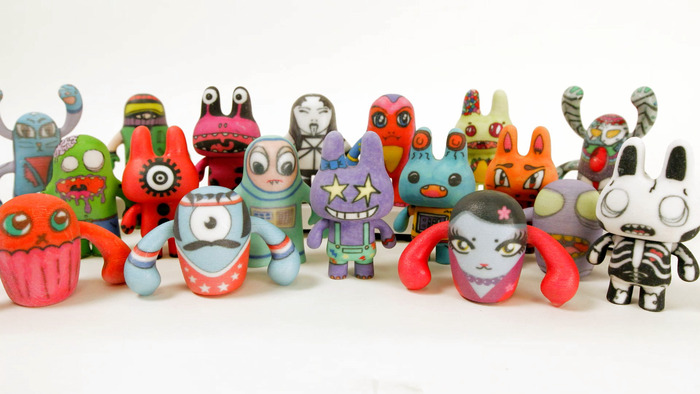 A collection of finished Inkimals