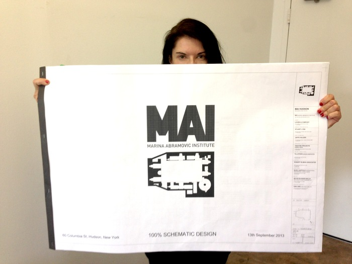 Marina with OMA's Schematic Design Book