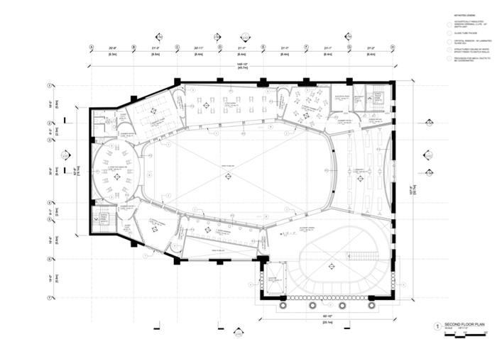 Schematic Design of MAI's Second Floor © OMA