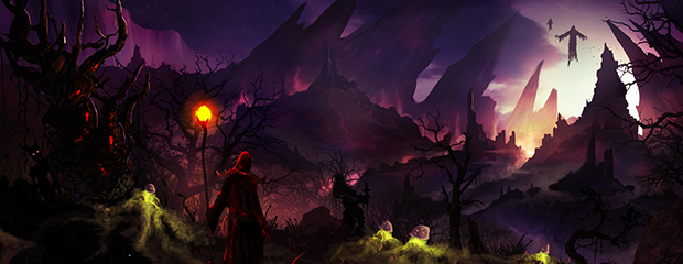 Shadow Vale Concept Painting - Included in wallpaper pack, artbook and posters.