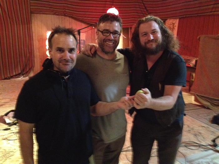 Jim James from My Morning Jacket on the set of Pleased to Meet Me!