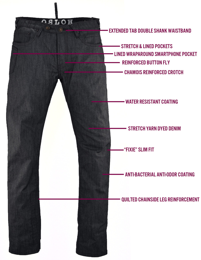 TRAFFIC Jean Features (front view)