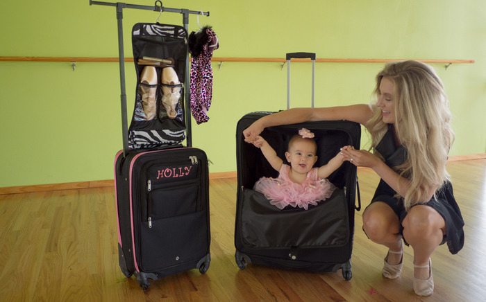 The Dance Angel Suitcase With A Pop Up Garment Rack By