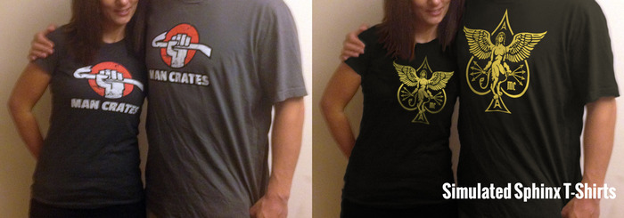 Choose a Man Crates or Sphinx Tee in Men's or Women's sizes