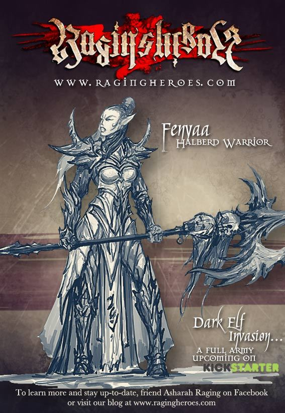 Forthcoming Dark Elf Invasion from Raging Heroes 91311ec8a5368704090ee85e5b2a5caf_large