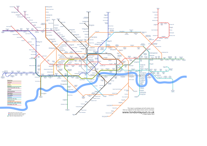 Tube map without zones