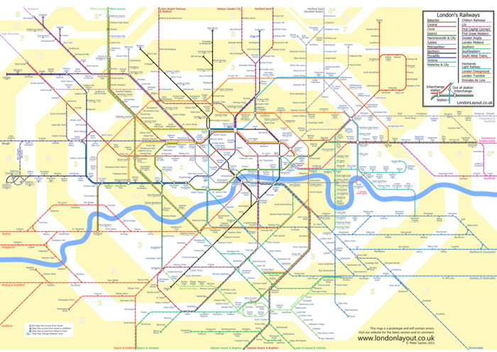 London Layout Suburban map with zones