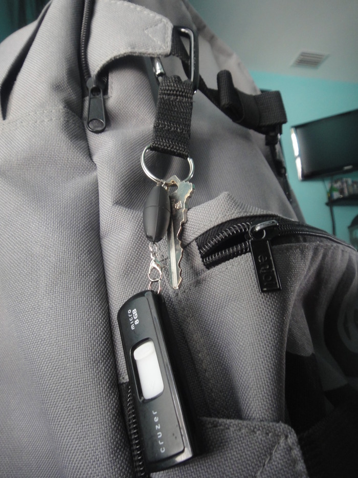 The utility clip works great for backpacks, tool belts, belt loops and more!