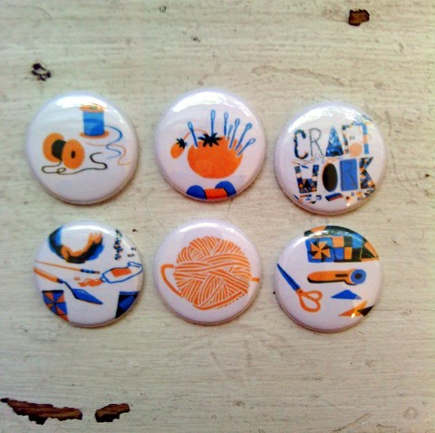 Get a great set of 6 magnets or a selection of two pins, depending on your reward level!
