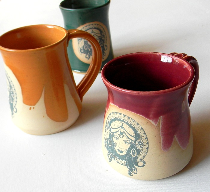 Mugs from Mississippi Mud Pottery